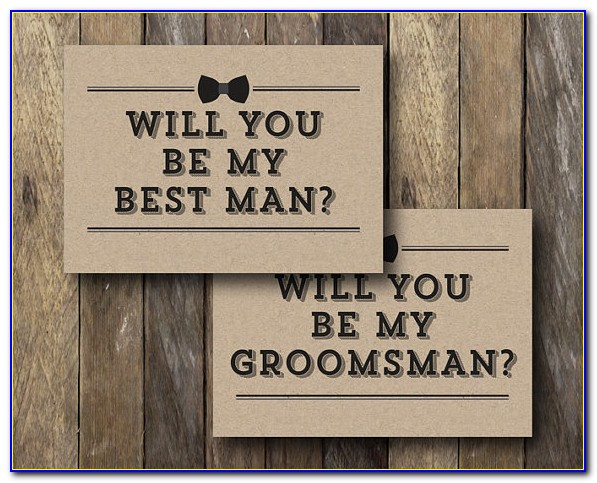 Free Groomsman Invitation Template