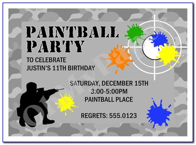 Free Paintball Invitation Templates