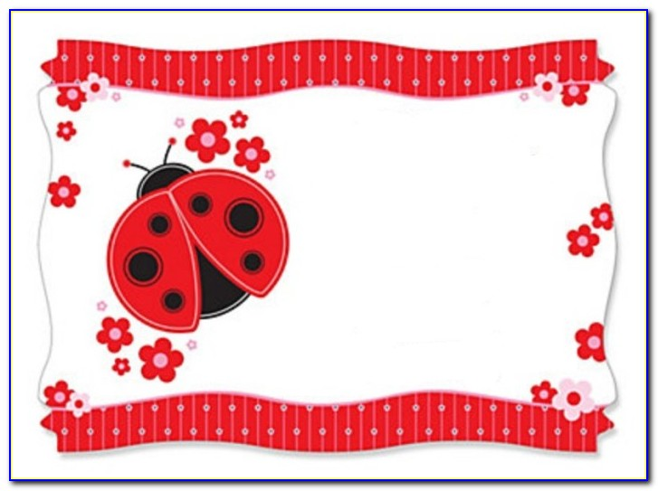 Free Printable Ladybug Baby Shower Invitations Templates