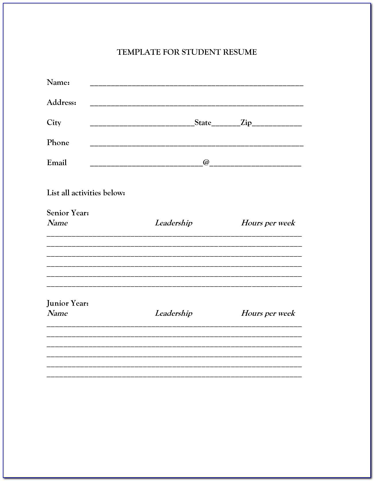 Free Printable Resume Template Download