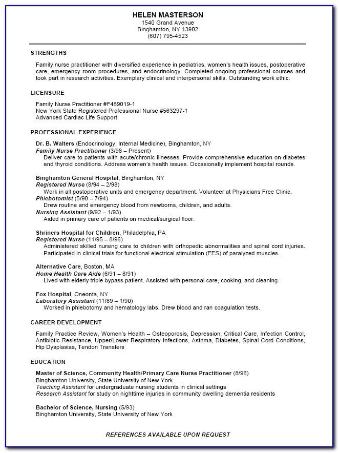 Free Professional Nursing Resume Templates