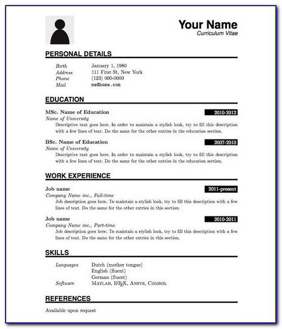 Free Resume Examples Pdf