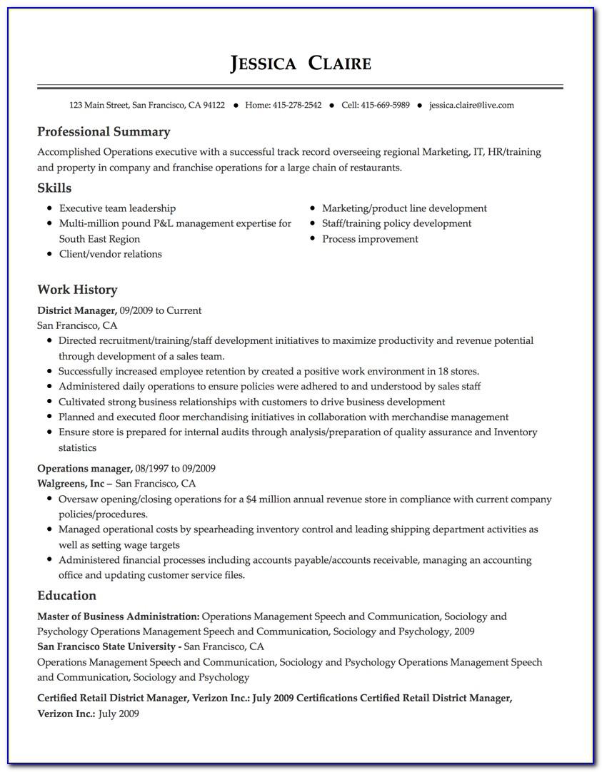 Free Resume Maker Word