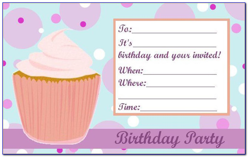 Girl Dinosaur Party Invitation Template
