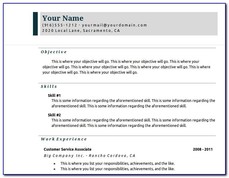 Google Drive Resume Template Download