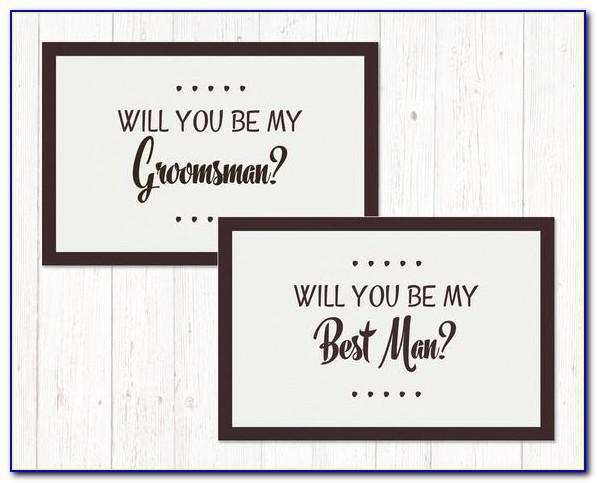 Groomsman Invitation Template Free Download