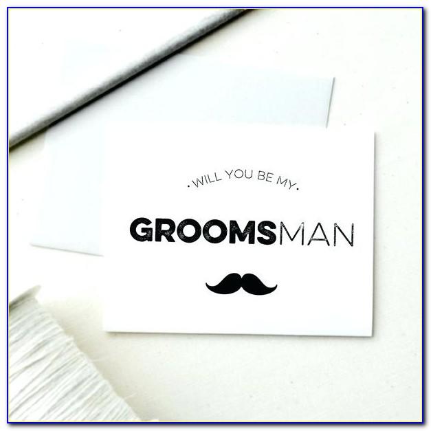 Groomsman Invitation Template