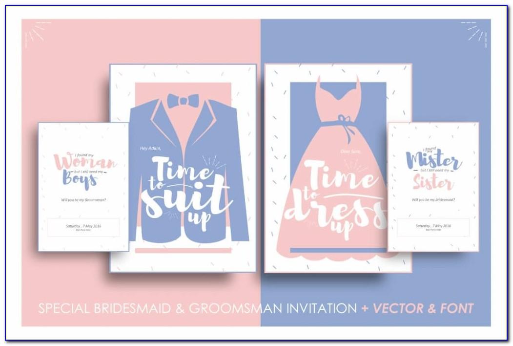 Groomsmen Invitation Template Free Download