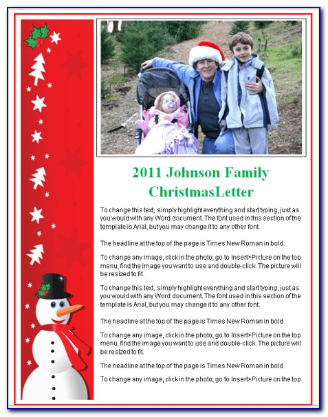 Holiday Newsletter Template For Pages