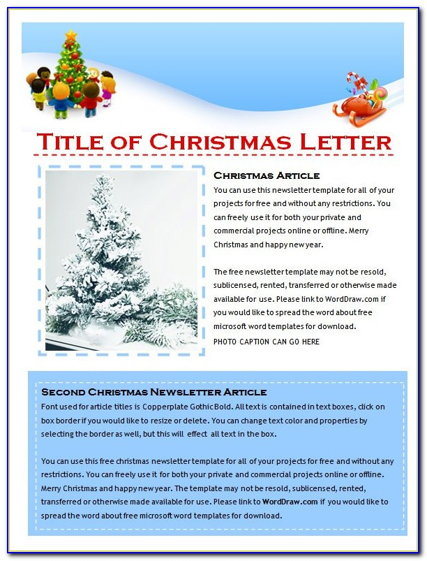 Holiday Newsletter Template Word