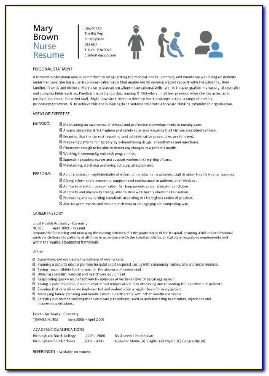 Nurse Resume Template Can Help You Write An Excellent Cv   Resume Pertaining To Nursing Resume Template 2017