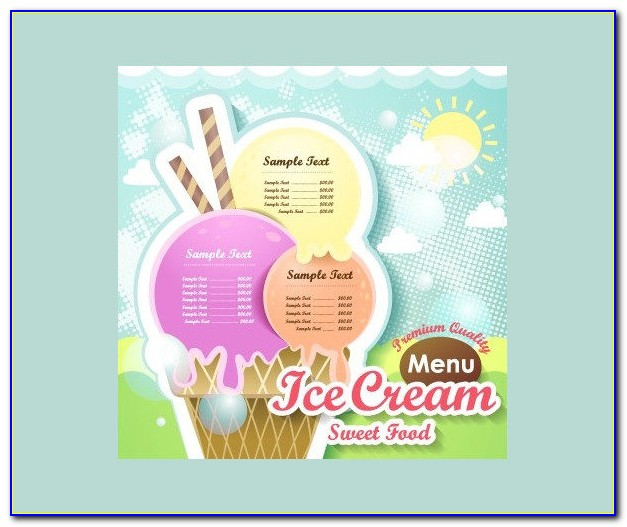 Ice Cream Menu Template Free Download