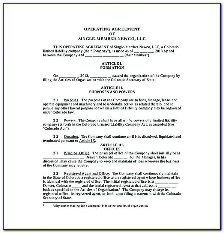Illinois Series Llc Operating Agreement Template