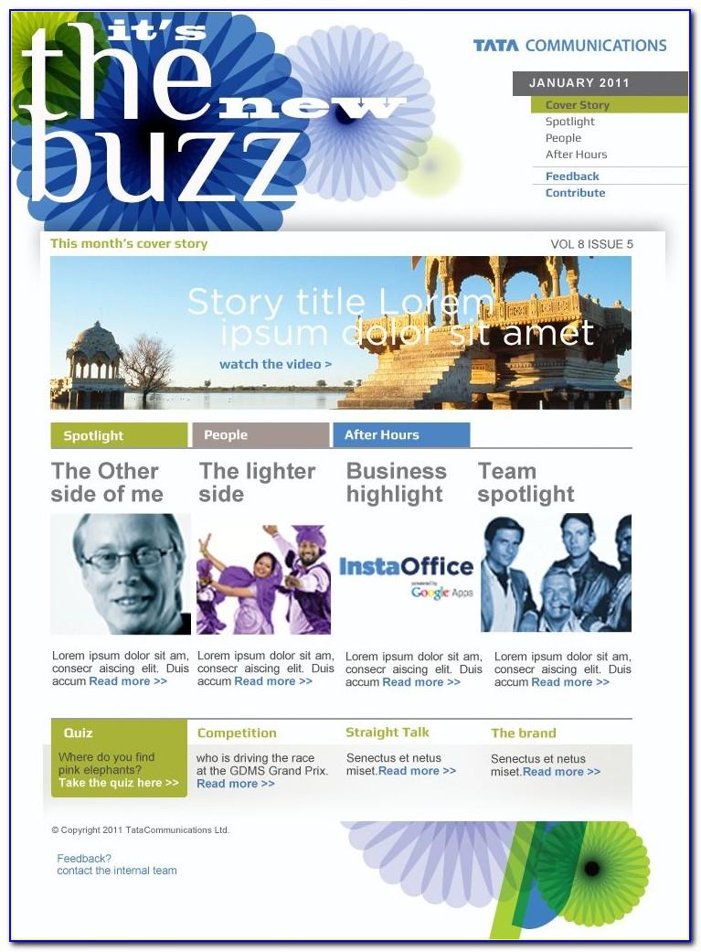 Internal Company Newsletter Templates Free