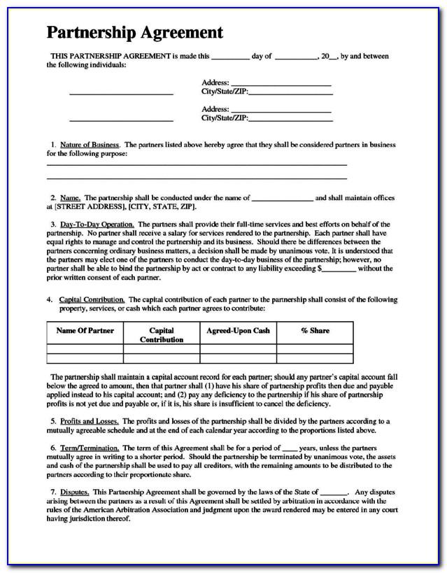 Limited Partnership Agreement Template Nz