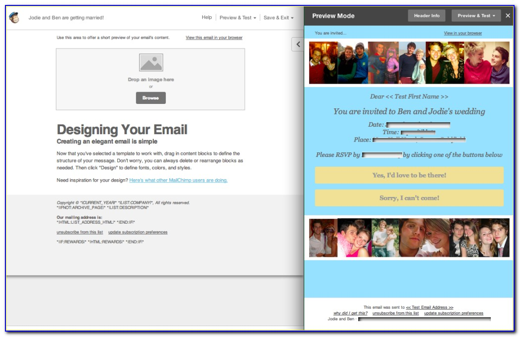 Mailchimp Event Template