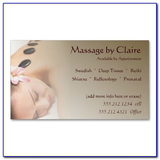 Massage Therapy Business Card Templates Free