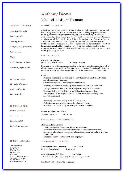 Medical Coder Resume Template Free