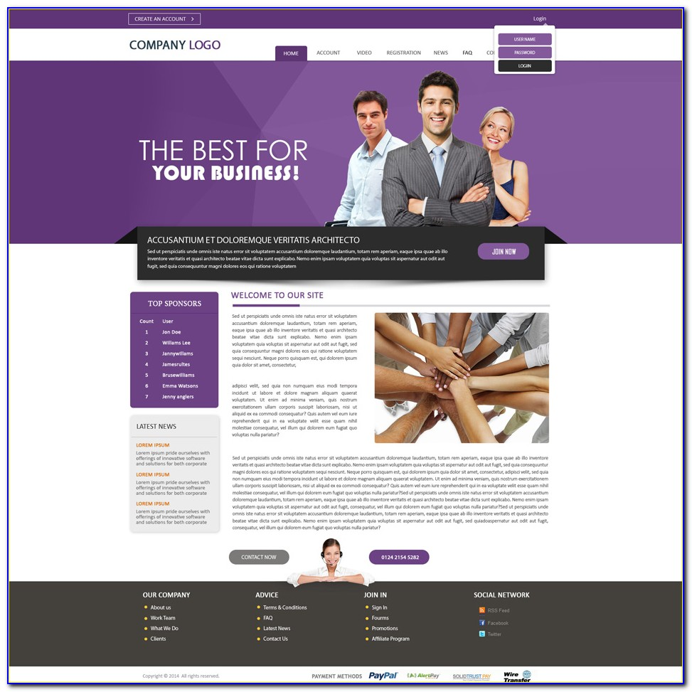 Mlm Website Templates Download