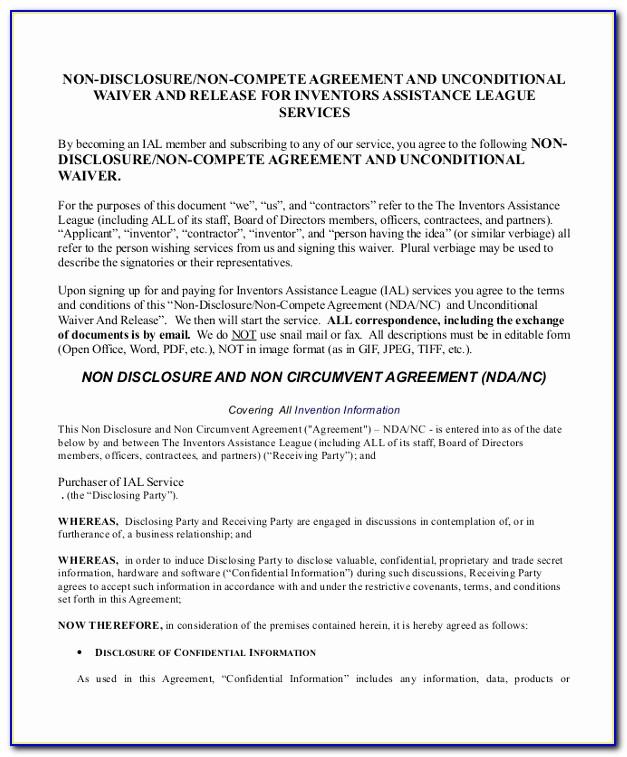 Non Circumvention Agreement Template New Non Disclosure Non Circumvention Agreement Template Sample Non