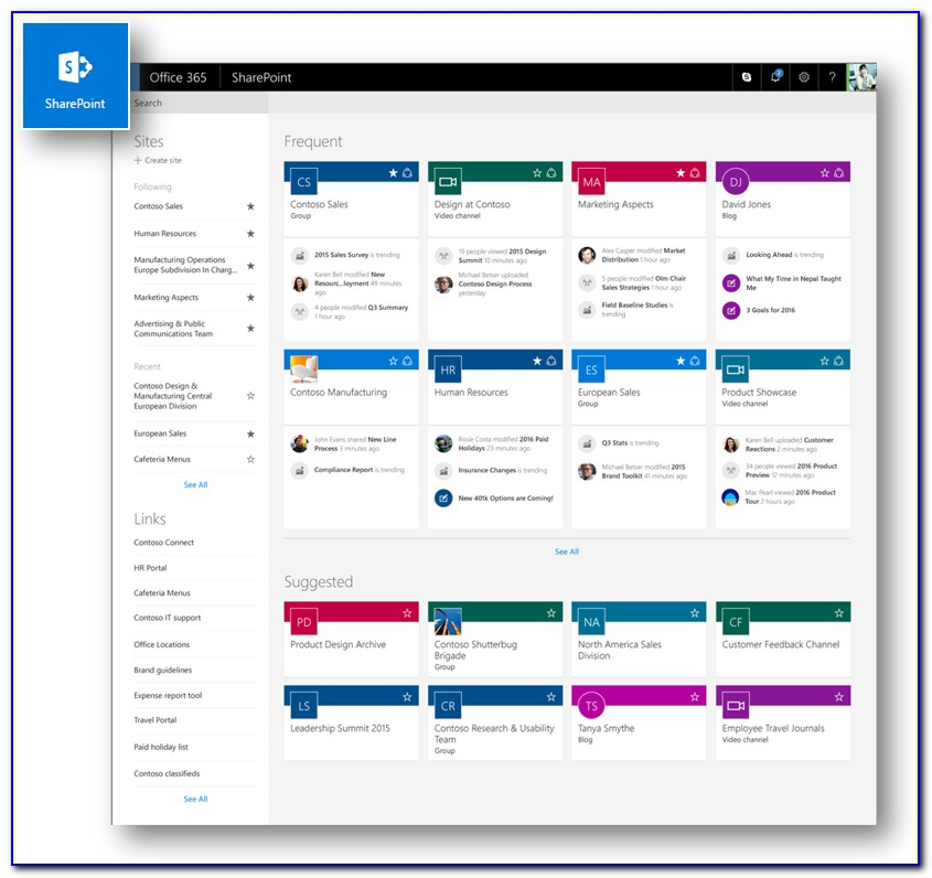 Office 365 Sharepoint Template Library