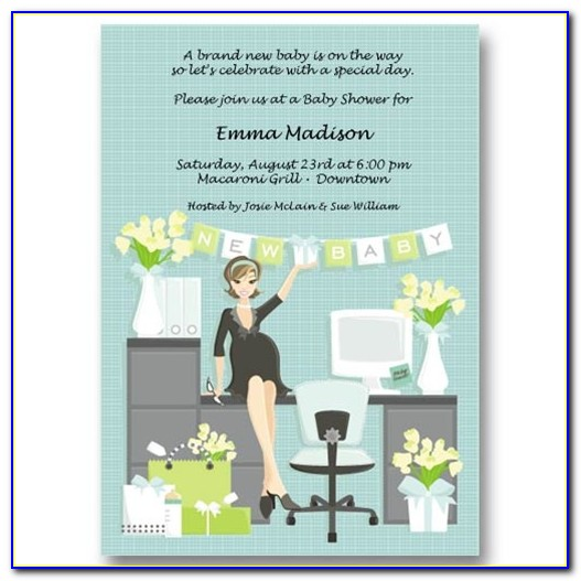 Office Baby Shower Invitation Template Free