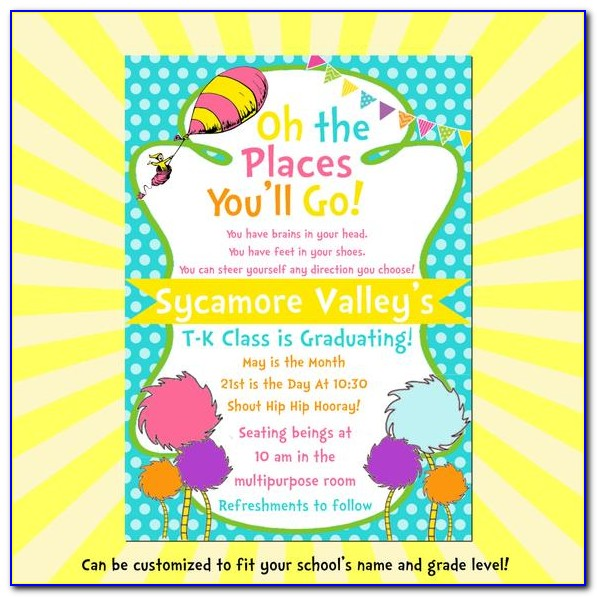 Oh The Places You'll Go Baby Shower Invitation Template