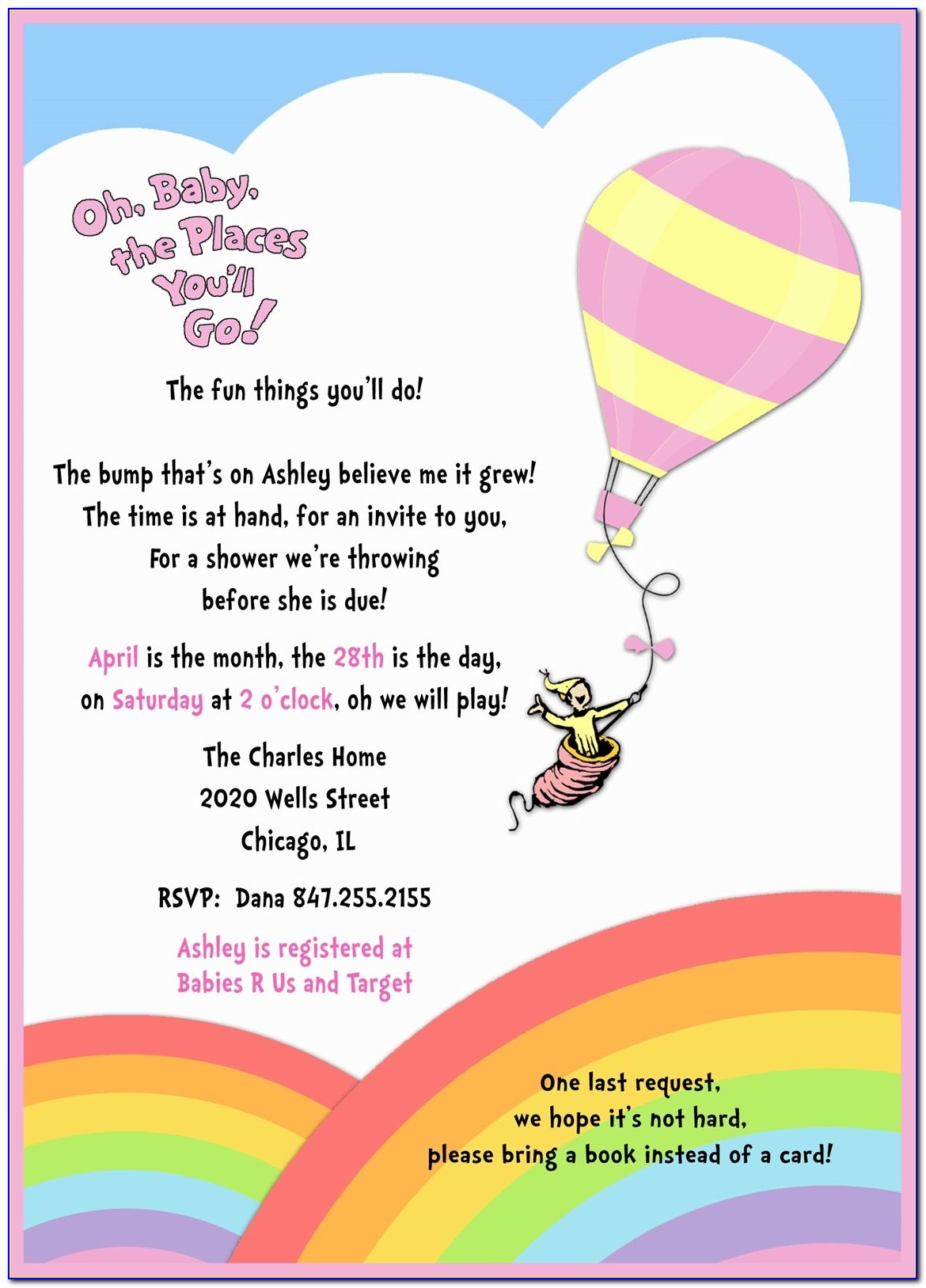 Oh The Places You'll Go Birthday Invitation Template