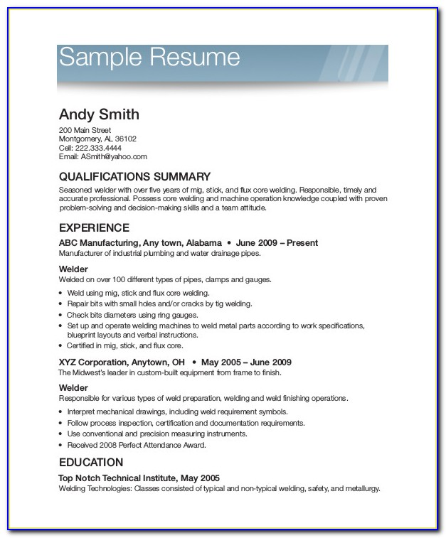 Printable Basic Resume Examples