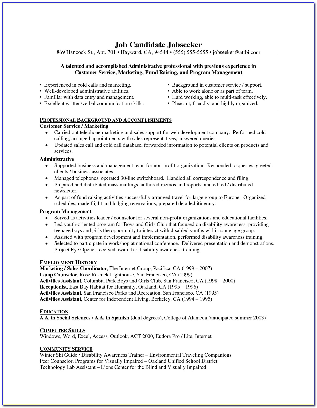Professional Resume Writers Bay Area