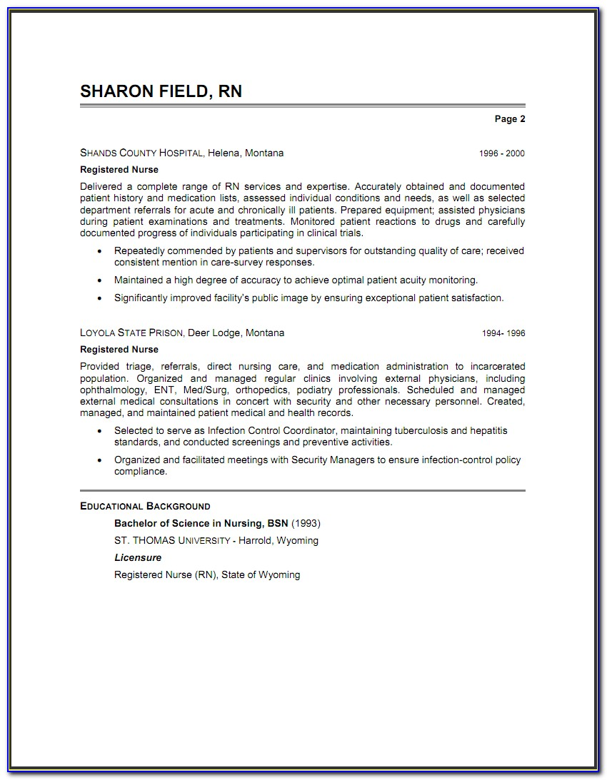 Registered Nurse Icu Resume Examples