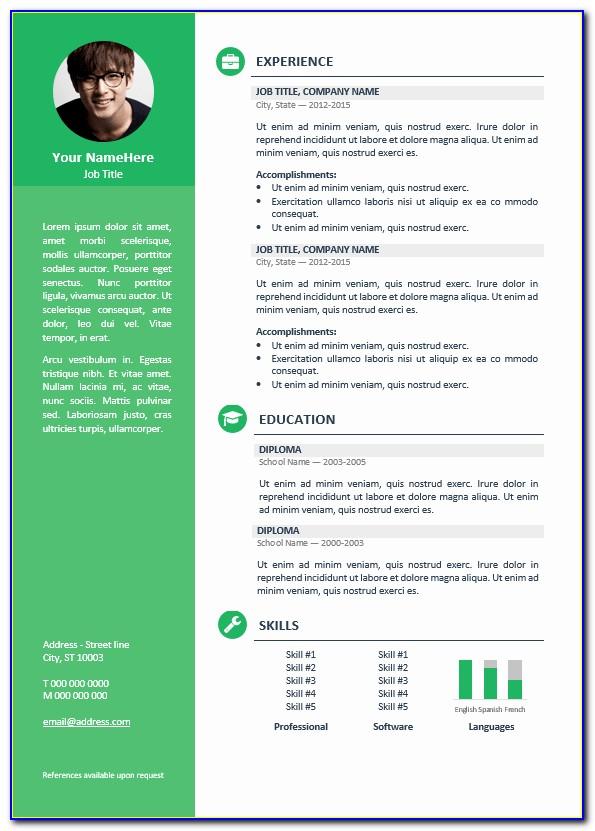 Resume Editable Templates Free Download