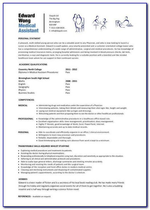 Resume Examples For Medical Assistants Entry Level