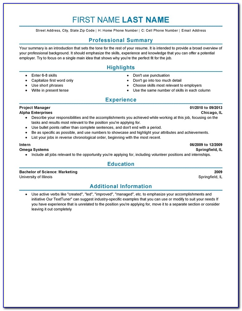 Experienced Resume Templates To Impress Any Employer | Livecareer Within Experience On A Resume Template