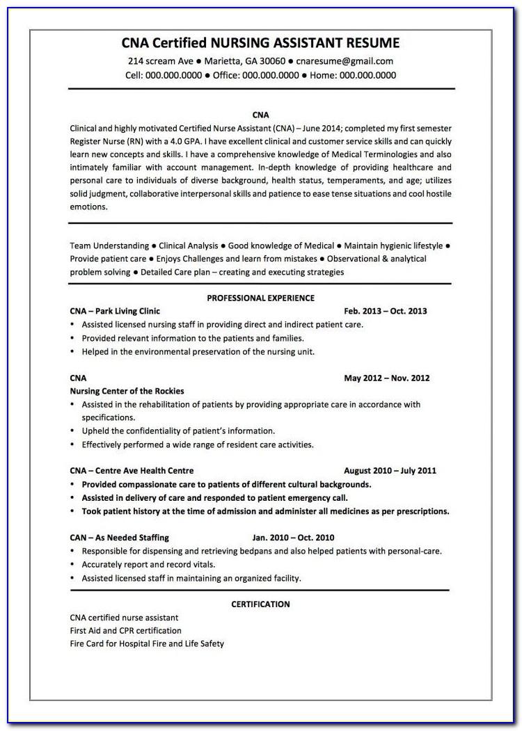 Resume Format For Nursing Tutor