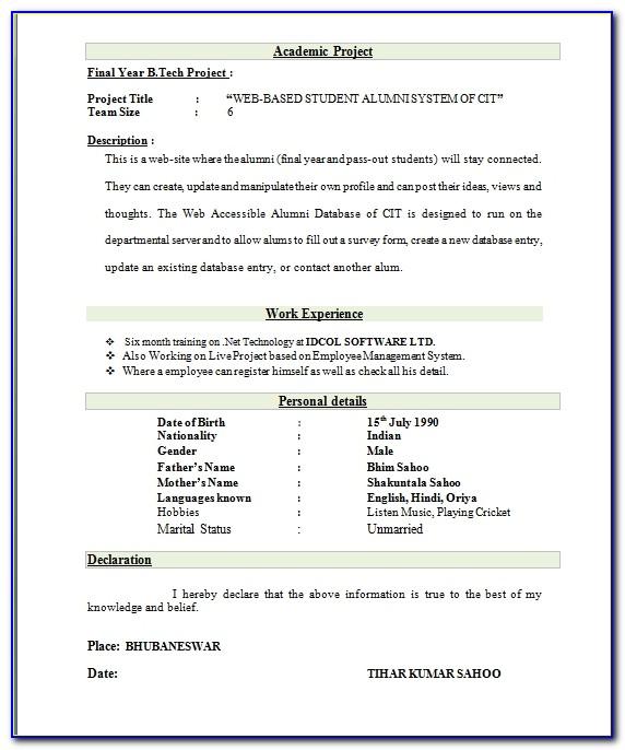 Electrical Engineer Resume Format Resume Format And Resume Maker Best Resume Format For Freshers Mechanical Engineers Best Resume Format For Freshers Mechanical Engineers
