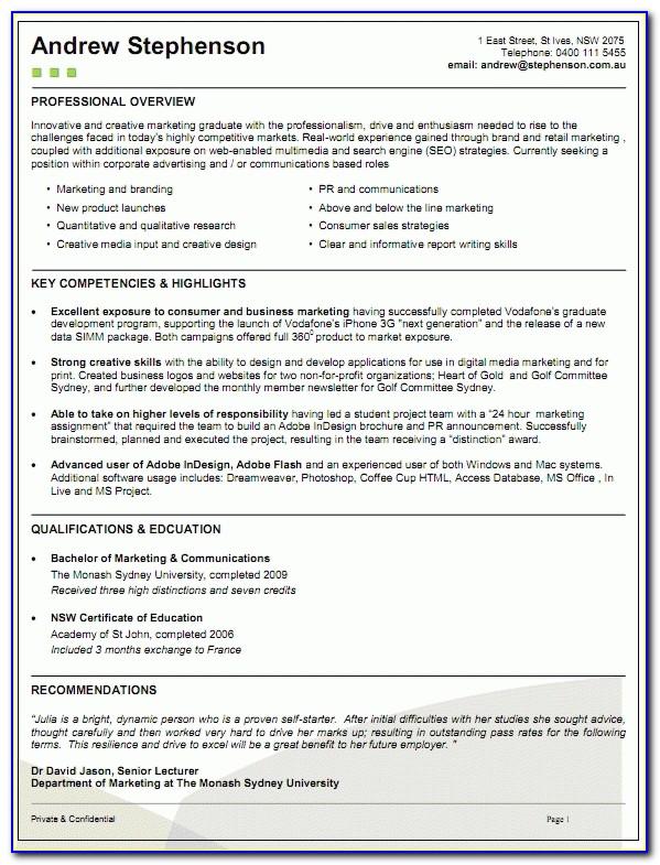 28+ [ Resume Template Australia Graduate ] | Management Graduate Regarding Student Resume Template Australia