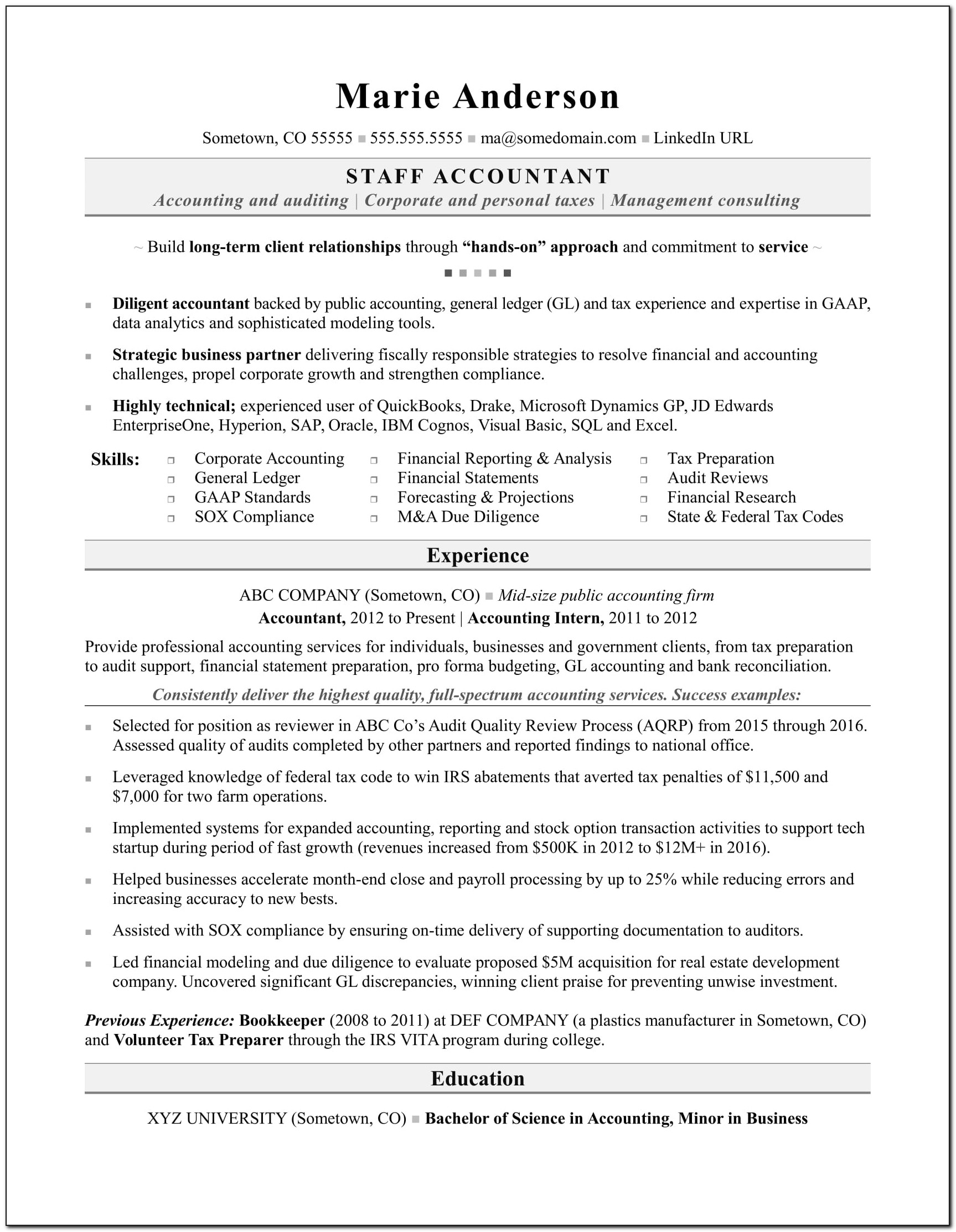 Resume Samples For Accounts Payable