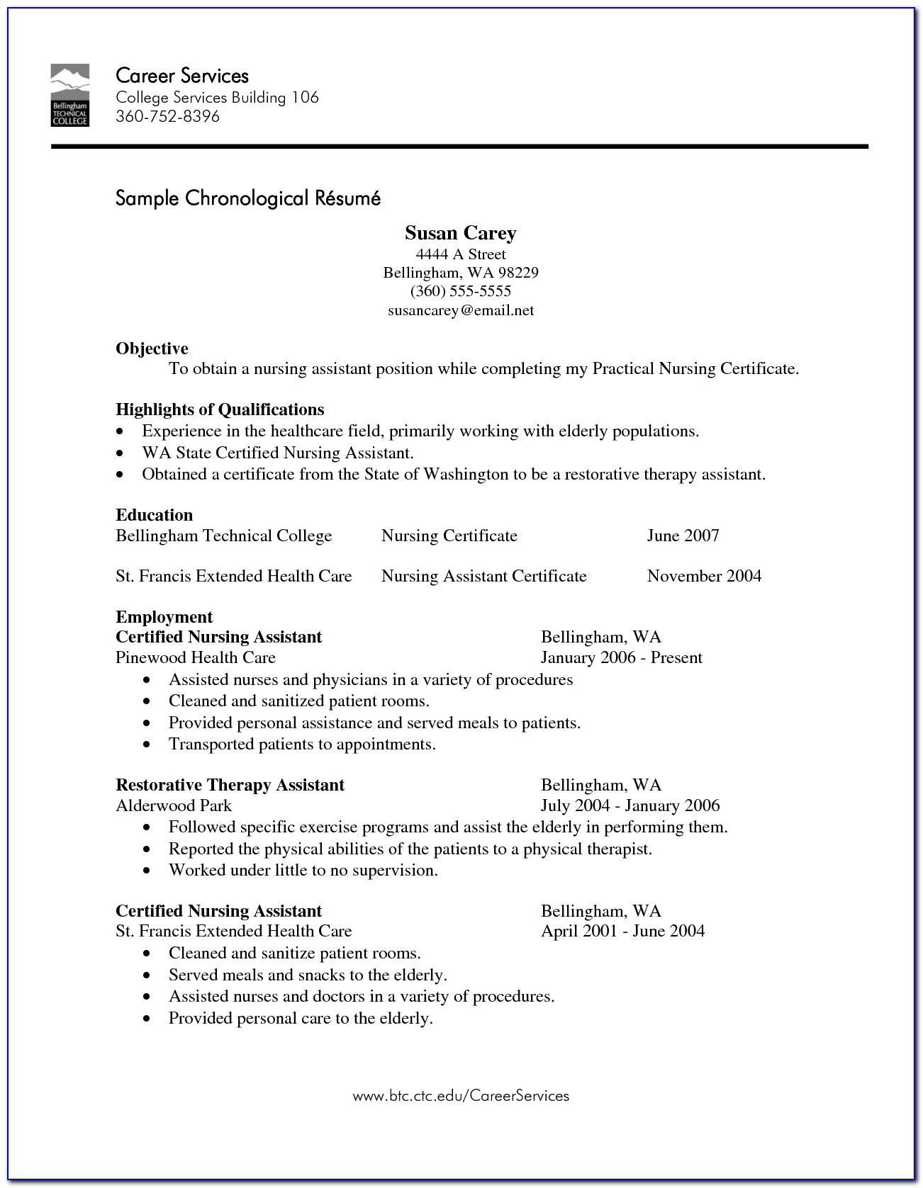 Experienced Cna Resume Objective Inside Cna Resume No Experience Template