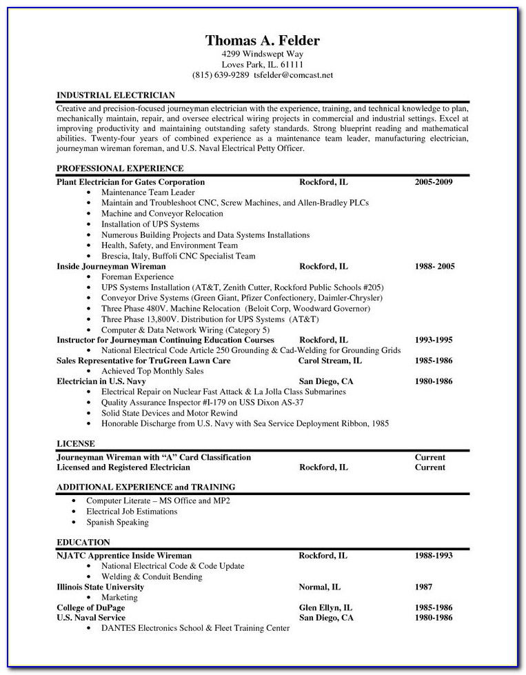 Resume Samples For Experienced Electrical Engineers