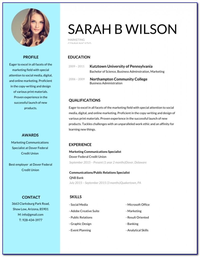50+ Most Professional Editable Resume Templates For Jobseekers Within Resume Template Editable