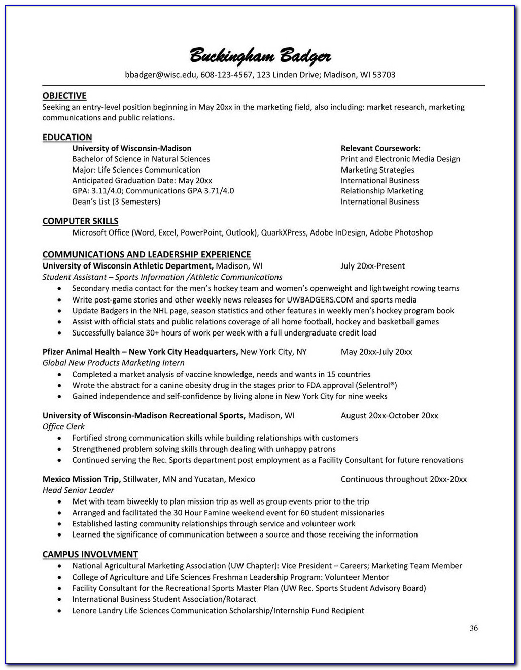 Resume Writers Madison Wi