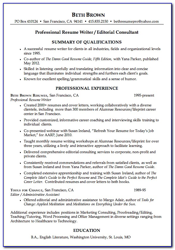 Resume Writing For Marketing Professionals