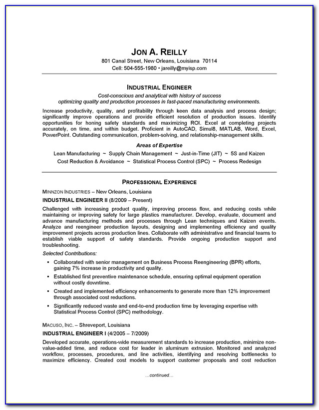 Resume Writing Services For Engineers
