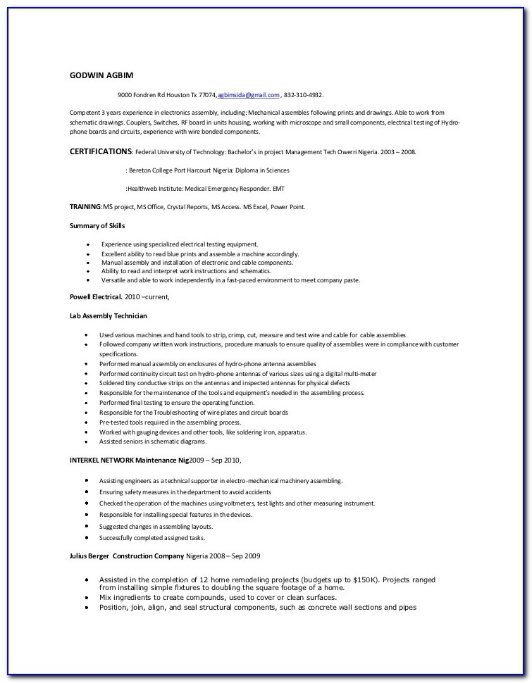 Resume Writing Services Houston