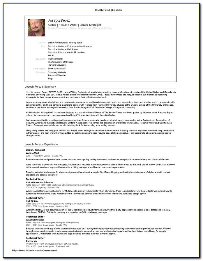 Resume Writing Tips Linkedin