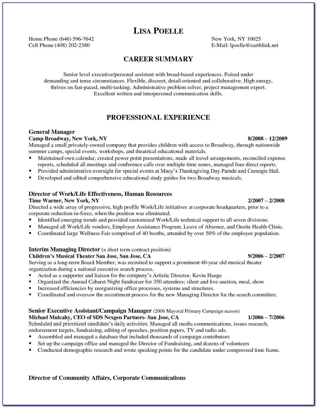 Resumes For Marketing Executives