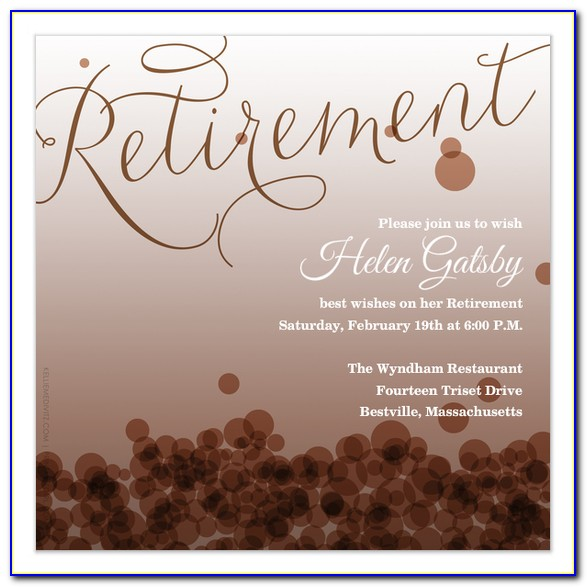Retirement Announcement Templates Free