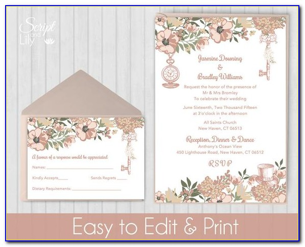Rose Gold Baby Shower Invitation Template
