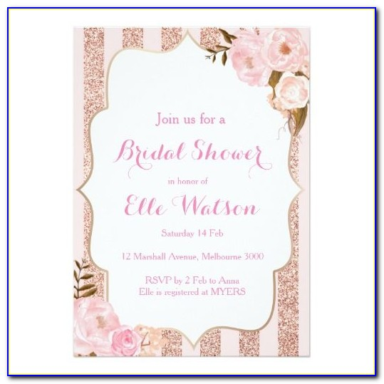 Rose Gold Glitter Invitation Template